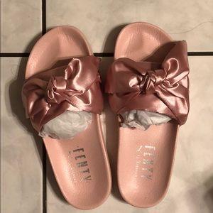 Shoes - Pink Fenty Bow Slides